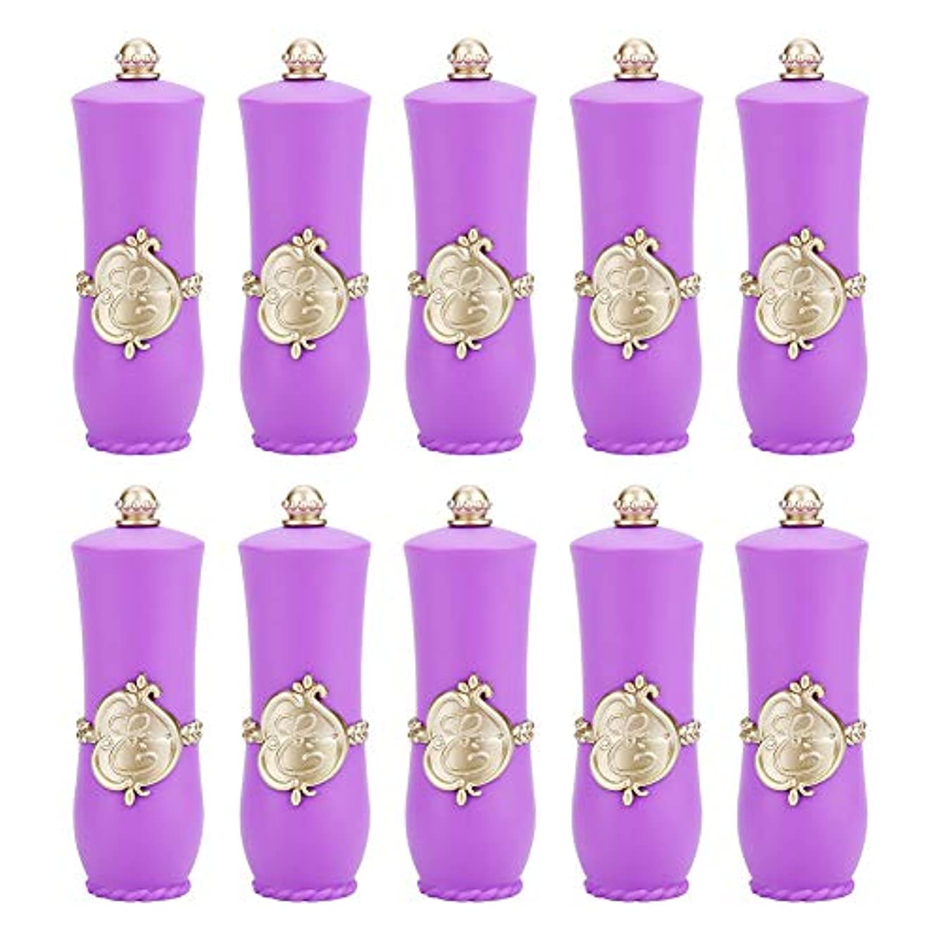 活性化コーデリア中で空の口紅チューブ、ロイヤルスタイルDIY口紅空容器自作口紅型リップクリームチューブ(Purple 10Pcs)