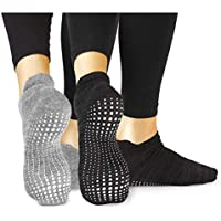 LA Active Grip Socks - Yoga Pilates Barre Ballet Non Slip Non Skid Maternity with Grippers