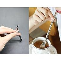 ID Teaストローステンレススチール、Filtered Spoons Drinking Straw、2個