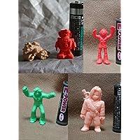 サイボーグ009b53-1+ゼンダマン+タイガーマスク+パプアくん 消しゴム系 人形セット