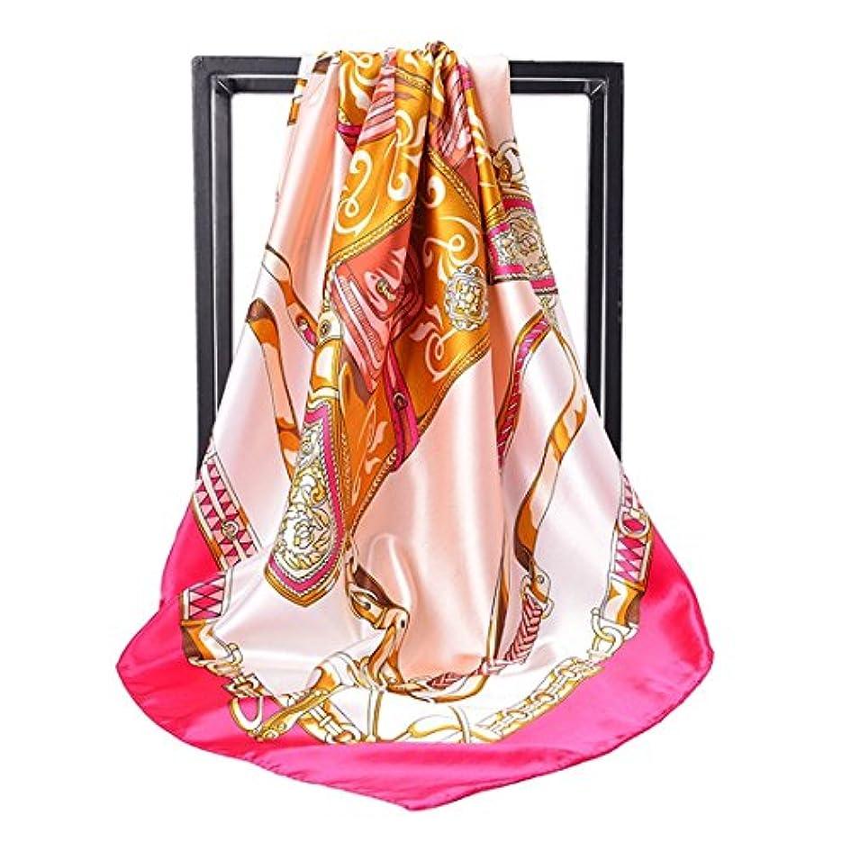 火炎ワーム洗う女性のシルクスカーフのためのHijab Scarfsプリントサテンのシルクスカーフ大きなスクエアスカーフ、90X90CM