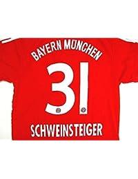 ?クリックポスト?大人用 A022 バイエルンHOME SCHWEINSTEIGER*31 シュバインスタイガー 赤 18 ゲームシャツ パンツ付