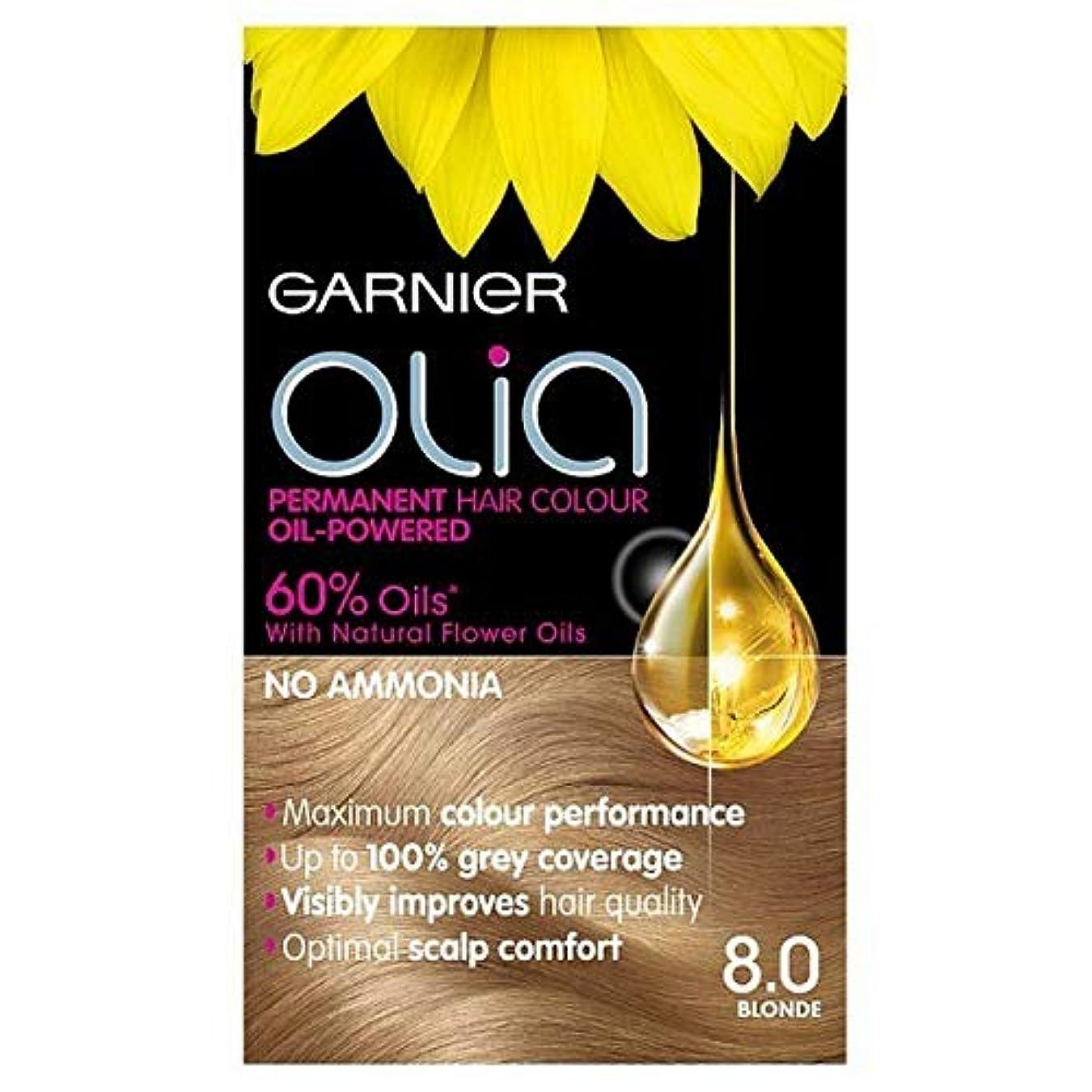 南アメリカメアリアンジョーンズ飲み込む[Garnier ] 8.0ブロンドガルニエOliaパーマネントヘアダイ - Garnier Olia Permanent Hair Dye Blonde 8.0 [並行輸入品]