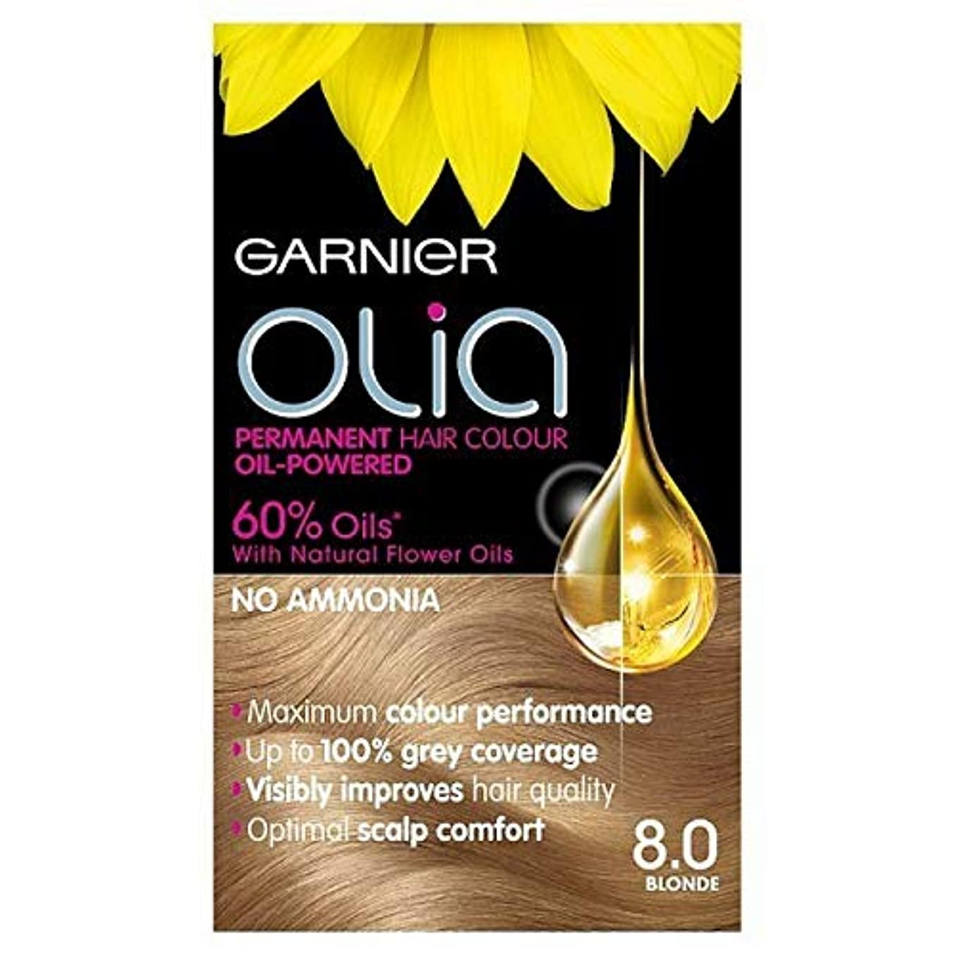 市の花名詞民族主義[Garnier ] 8.0ブロンドガルニエOliaパーマネントヘアダイ - Garnier Olia Permanent Hair Dye Blonde 8.0 [並行輸入品]