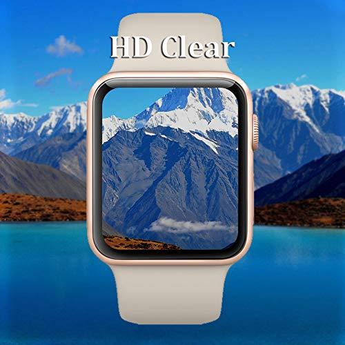 『【6枚セット】Newzerol For Apple Watch Series 4 44mm 2018 保護フィルム 改良版【ラウンドエッジ・超薄0.1mm・傷防止・透過率99%・気泡防止】Apple Watch 44mm Series 4 液晶保護フィルム』の4枚目の画像