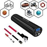 KUFUNG 12V充電式空気入れ 小型電動ポンプ 携帯便利 付自動車 バイク 自転車 ボール 浮き輪 風船用