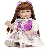 Nicery 人形 Babyラブリー玩具人形高ビニル20インチ50センチメートルのリアルな少年少女の玩具パープルホワイト花 Reborn Dolls JP