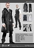 メンズ ロングコート 暗殺者スタイル。 【セット内容】ロングコート、べ スト、ネクタイ、パンツ、ベルト、シャツ、シューズ、ピストル Artcreator_BM 1/6 DOLLSFIGURE Male Leather Men Suit Full set(Ver.2)cc163