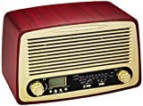 WINTECH クラシックホームラジオ HR-W18G ブラウン