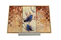 Picture Frame Bird Species Finch Composite Plate