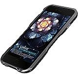 Apple 6 金属フレーム  iPhone 6/6S iPhone 6 plus/6S plusに対応 個性的メタルバンパーカバー ケース 金属製 耐衝撃 スリーム (iPhone 6/6S, ブラック)