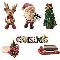 クリスマス飾り クリスマスデコレーション プレゼント ミニチャーム 卓上置物 精巧な細工 6個入 レンジ 可愛いバッグ贈る ミニクリスマスツリー サンタ トナカイ 雪だるま 猫 おもちゃ 彼女 かわいい (タイプ-A)
