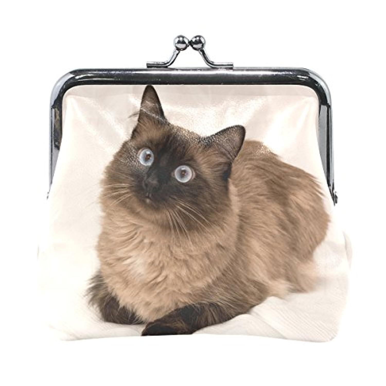 Anmumi がま口 ポーチ 動物柄 猫 コインケース 財布 小銭入れ PUレザー レディース キッズ 人気 大容量 小物ケース かわいい 通勤通学