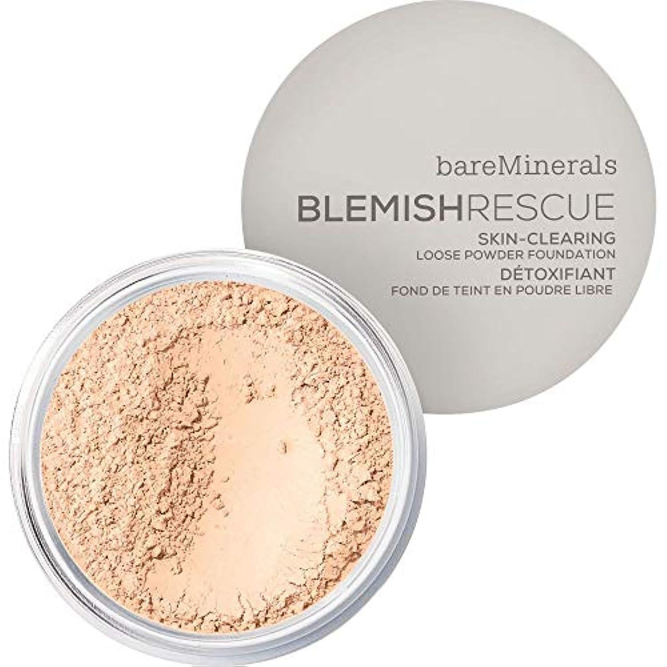 三最初は酸化する[bareMinerals ] ベアミネラルは、レスキュースキンクリア緩いパウダーファンデーション6グラム1Cは傷 - フェア - bareMinerals Blemish Rescue Skin-Clearing Loose...