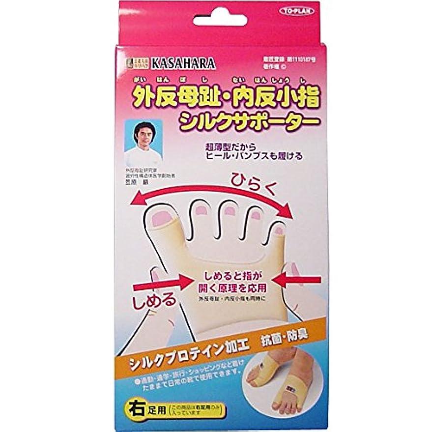 ダースエクステント伝染性のアイメディア 外反母趾内反小指うす型サポーター 右足用