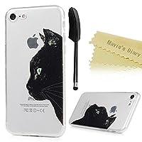 iPhone 8 ケース/iPhone 7 ケース MAVIS'S DIARY カバー クリア 耐衝撃 保護キャップ スマホケース TPUケース 猫