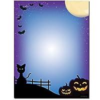 All Hallows ' Eveハロウィンレターヘッドレーザー&インクジェットプリンタ用紙 100 pack ブルー