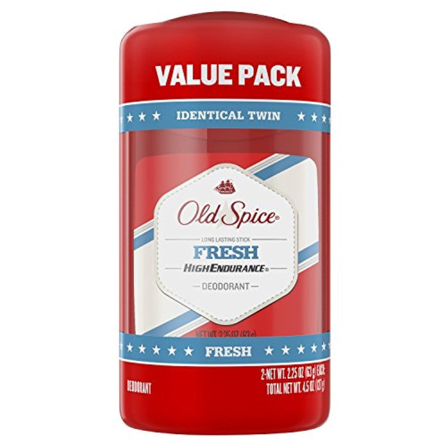 荒れ地封筒グレードオールドスパイス Old Spice ハイエンデュランス フレッシュ デオドラント スティック 男性用 63g 2個セット[平行輸入品]