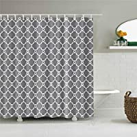 浴室のシャワーカーテン、クリエイティブデジタル印刷シャワーカーテン生地浴室のカーテン耐久性のある防水風呂カーテンセットフック72×72インチ,C0812