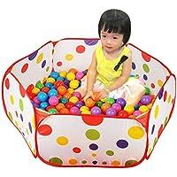 赤ちゃん折りたたみ式カラフルなポルカドットゲームプレイテントプールハウスwith 50個海洋ボール