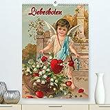 Liebesboten(Premium, hochwertiger DIN A2 Wandkalender 2020, Kunstdruck in Hochglanz): Engelchen auf nostalgischen Postkarten (Monatskalender, 14 Seiten )