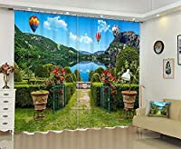 3Dデジタルステレオパーソナリティ子供のリビングルームの寝室のバルコニー出窓プリント遮光カーテン 220 cm幅x 180 cm高さ(86インチ幅x 71インチ高)