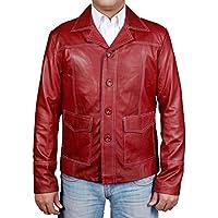 MSHC Men's Fight Club Faux Leather Coat Burgundy Color