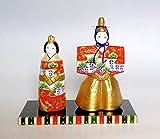 京人形 土田人形 陶器製手作りひな人形 京洛立雛 ひな祭り 初節句 雛飾り 平飾り