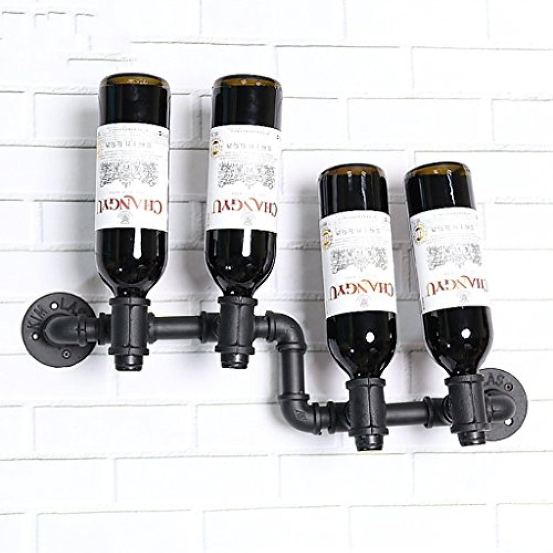 ワインホルダー ワインラックバーレジャークラブ壁掛けレトロワインフレームコーヒーショップデコレーションクリエイティブ上下ワインラックワインラック ワインラック