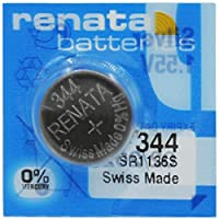 renata[レナータ]時計用水銀ゼロ酸化銀電池 344=SR1136S  1個 スイス製(SR42)