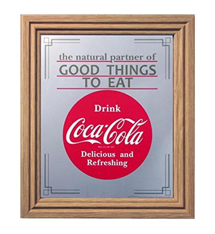 今までさておき危険にさらされているコカコーラ ミラー?鏡 ミラー 35×30×2.5cm