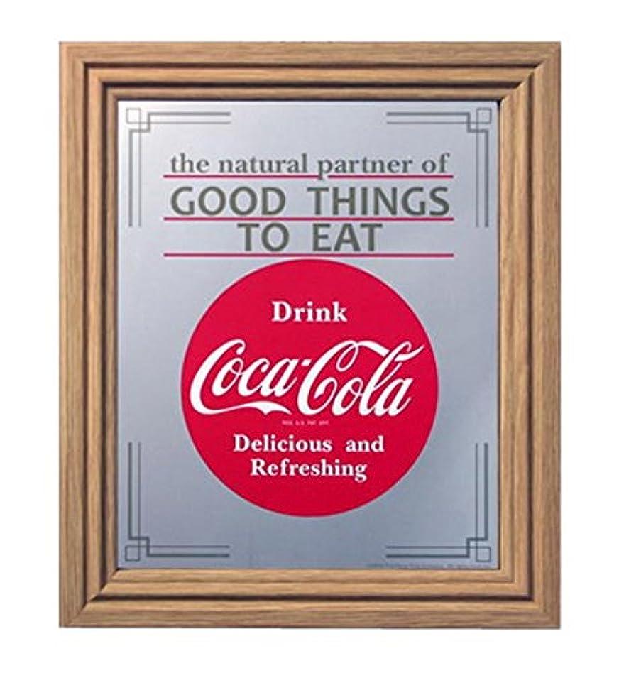 限界取得する口ひげコカコーラ(Coca Cola) ミラー・鏡 ミラー 35×30×2.5cm 0069771-0002
