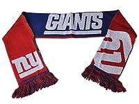 新しいYork Giants FCブルーレッドリバーシブル分割ロゴアクリルニット冬スカーフ