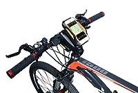 アウトドア 自転車 用 スマートフォン ホルダー パワーバンク モバイルバッテリー GPS iPhone GALAXY 対応 オレンジ