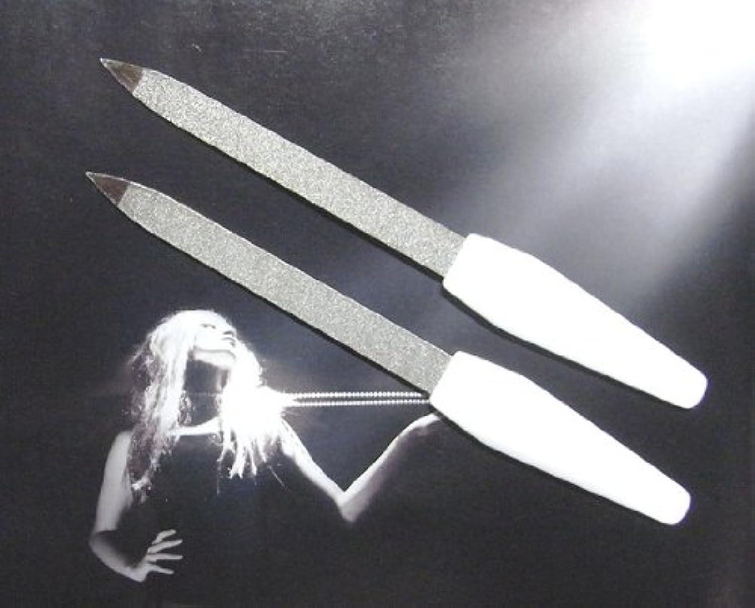 ゾーリンゲン(独) GOSOL サファイヤ ネイルファイル(爪ヤスリ)155mm白2個組