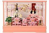 藤秀 雛人形 ひな人形 ケース 入り 親王飾り ピンク h283-ts-a9-p