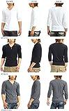 Tシャツ メンズ 無地 七分袖 カットソー Vネックランダムテレコ プレーン スペード画像⑤