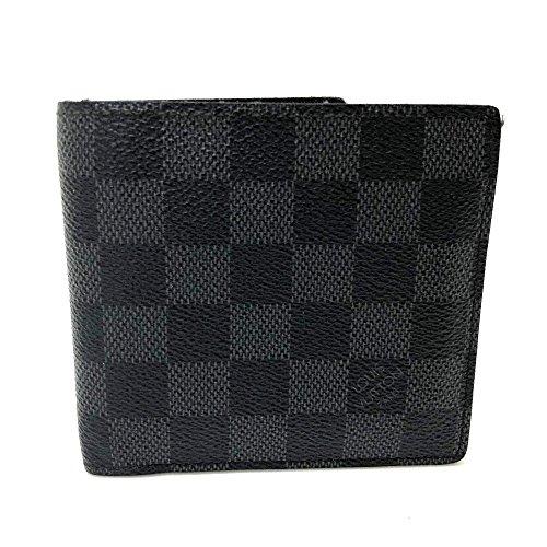 (ルイ・ヴィトン)LOUIS VUITTON N62664 ポルトフォイユ・マルコ ダミエグラフィット メンズ レディース 二つ折り財布(小銭入れあり) ダミエグラフィットキャンバス メンズ 中古