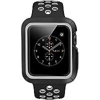 BRG コンパチブル apple watch バンド とapple watchケース のセット apple watch series1 apple watch series 2 apple watch series3 用のアップルウォッチバンドとアップルウォッチ ケースのセット (42mm,黒/灰色)