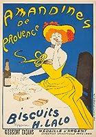 Amandines de Provence–Biscuits Hラロヴィンテージポスター(アーティスト: Leonetto CappielloフランスC。1900 9 x 12 Art Print LANT-60236-9x12