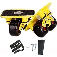 【ビッグセール】LangBo正規品 8代目強化版 ドリフトスケート ミニ スケボー 分体式 スケートボード アルミ合金 板 ダンパー スプリング付き 滑り止め 安全設計 リップスティック エスボードのようなトリックも可能