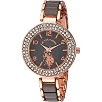 U.S. Polo Assn. Women's Analog-Quartz Watch with Alloy Strap, Two Tone, 8 (Model: USC40247AZ)