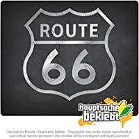 Kiwistar 国道66号線 Route 66 10cm x 10cm 15色 - ネオン+クロム! ステッカービニールオートバイ