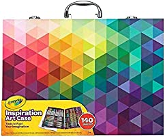 Crayola Inspiration Art Case: 140 Pieces, Deluxe Set with Crayons, Pencils, Markers and Paper in a Portable Storage...