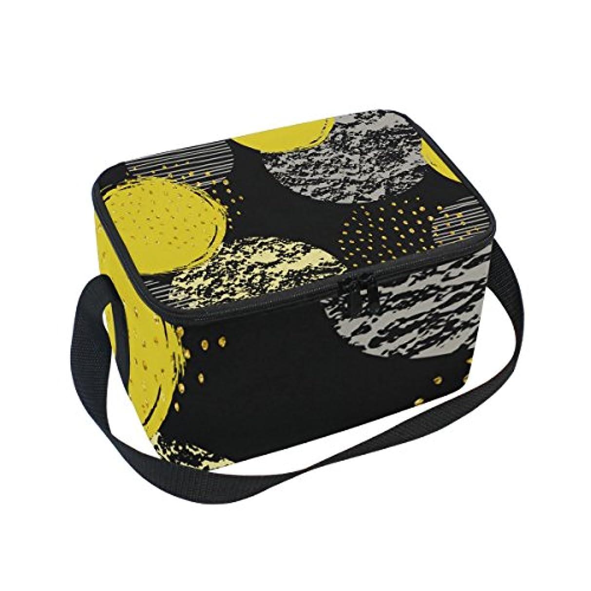 バイアス送金品種クーラーバッグ クーラーボックス ソフトクーラ 冷蔵ボックス キャンプ用品  ドット 金色 保冷保温 大容量 肩掛け お花見 アウトドア