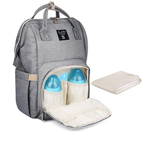 PomeloBest マザーズバッグ 大容量ママリュック ベビー用品収納 保温機能ポケット おむつ替えシート付き 出...