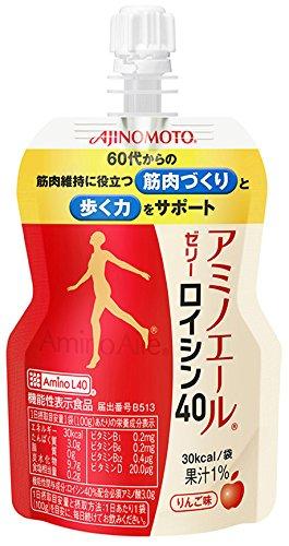 味の素 アミノエールゼリー ロイシン40 パウチ 100g×30個入 〔機能性表示食品:届出番号B513〕