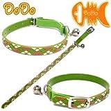 DoDo(ドゥドゥ) 3Dキャットカラー(猫用首輪) アーガイルチェック グリーン