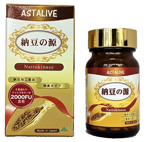 [ASTALIVE(アスタライブ)] 納豆の源 ナットウキナーゼ 60粒( 無臭タイプ) (1)