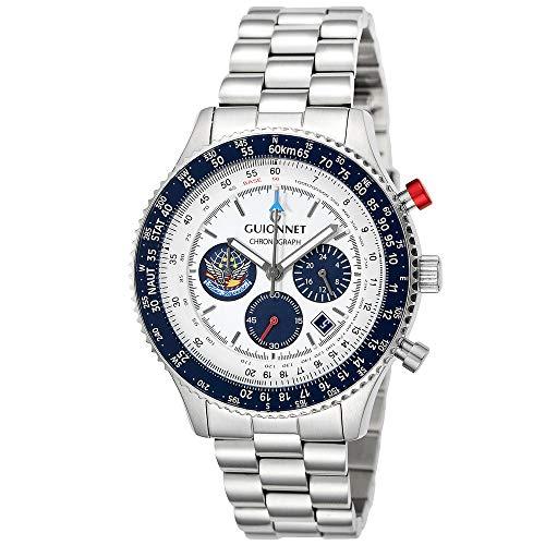 ギオネ 腕時計 フライトタイマー パイロットクロノグラフ FT42SBL5